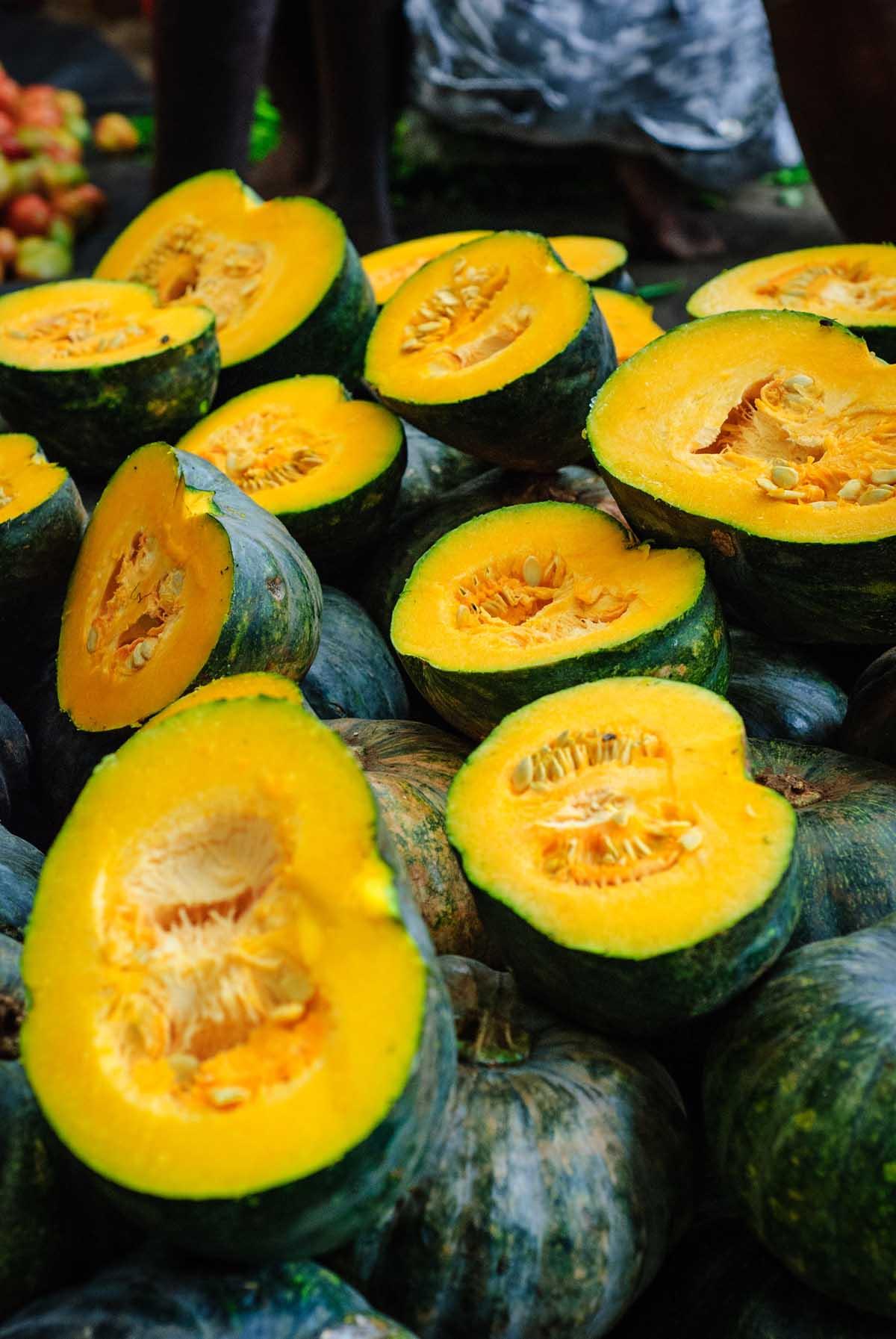 pile of kabocha pumpkins
