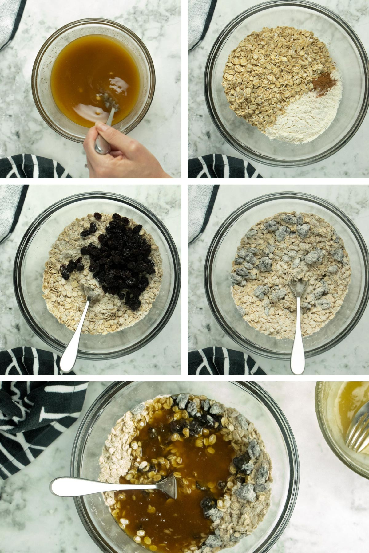 image collage showing making the cookie dough