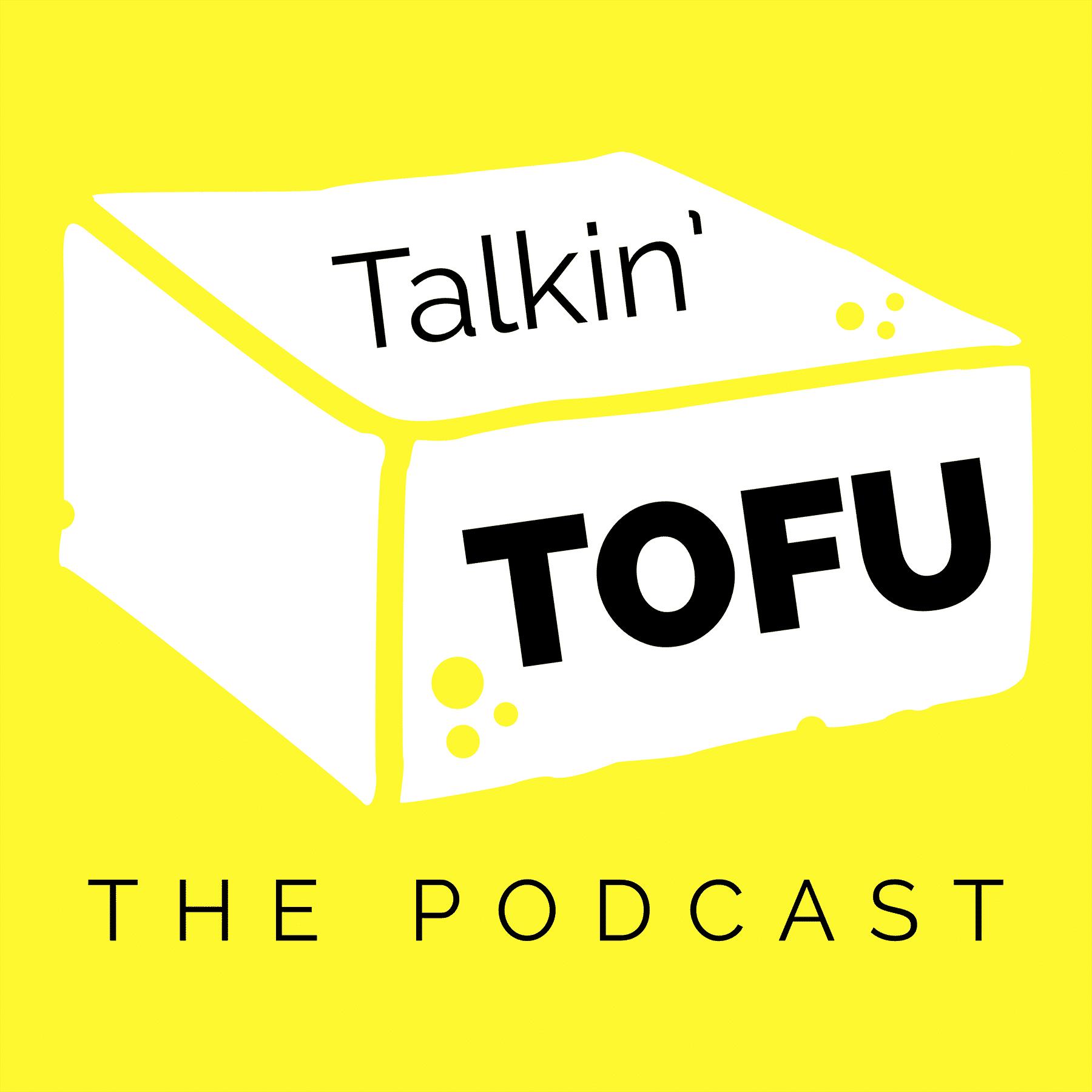 Talkin' Tofu logo on a yellow background