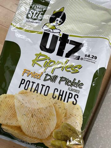 bag of Utz Ripples Fried Dill Pickle Chips
